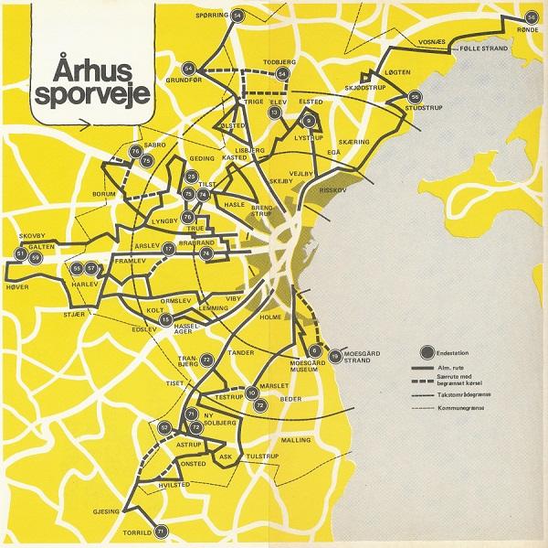 Aarhus Sporvejes' rutenet i vinteren 1978-79