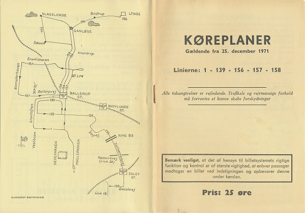 Køreplan for Ballerup Bybusser