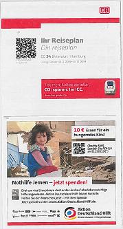 Folder på dansk og tysk om EC 34