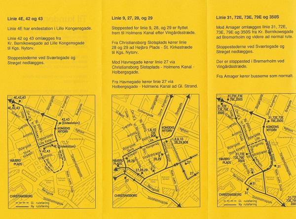 Folder om omlægninger omkring Kgs. Nytorv