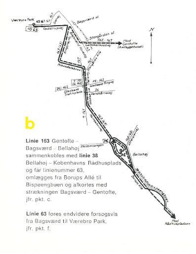 Sammenlægning af linje 38 og 163 i 1975