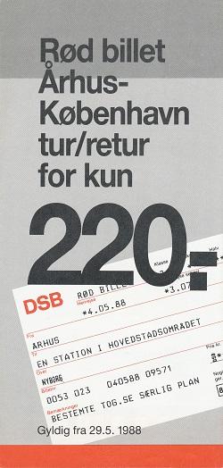 Folder om DSBs rød billet-tilbud