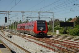SE-tog ved Hellerup station