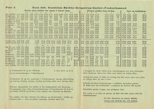 Simonsen-køreplan - linje 344
