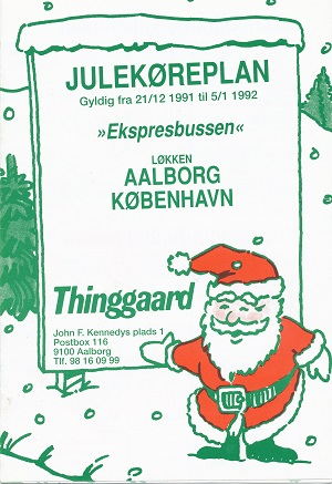 Julekøreplan fra Thinggaard