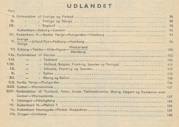Oversigt over køreplaner for internationale jernbaneforbindelser 1966