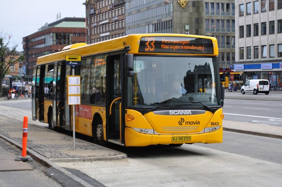 Linje 33-bus i den nye Amagerterminal
