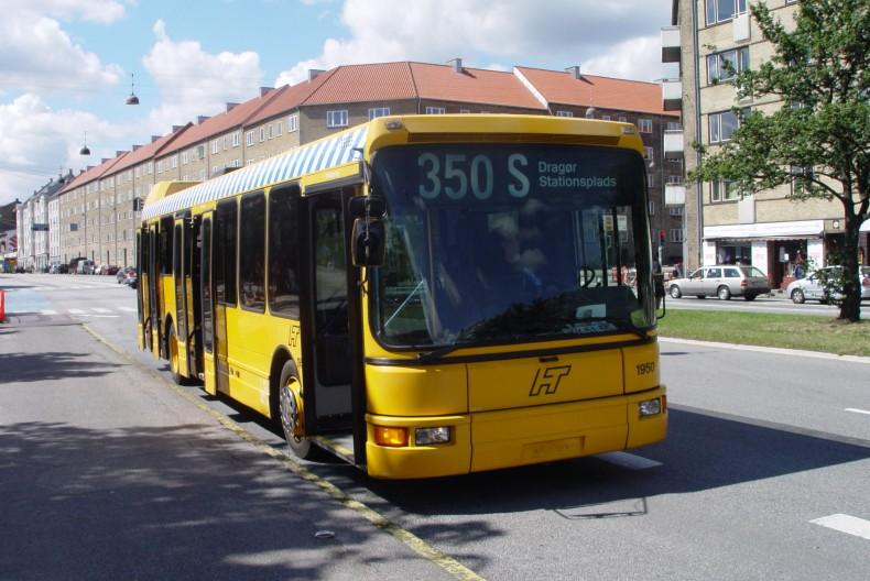 Bus danmark 1950 ved hulgårds plads, københavn