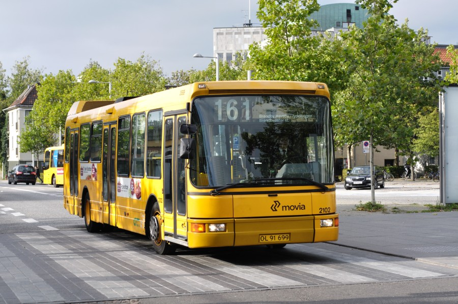 Linje 161-bus ved Lyngby st.