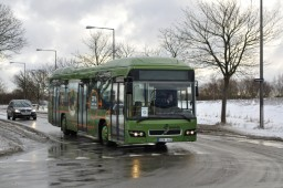 Hybridbus i drift under klimatopmødet
