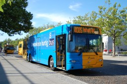 Concordia Bus 6020 som totalreklame for S-busserne