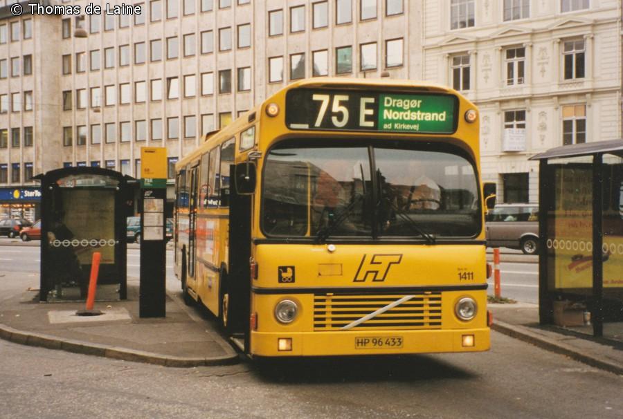 Linje 75E i Amagerterminalen