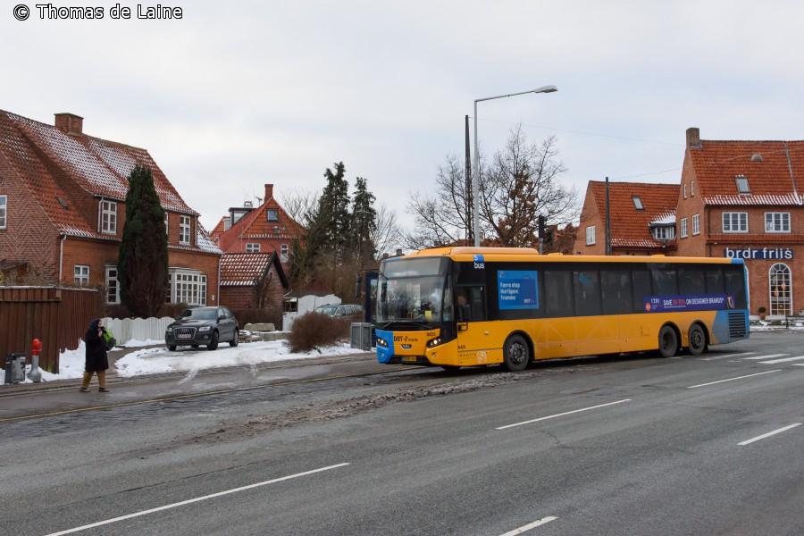 Linje 250S-bus ved Mellemvangen
