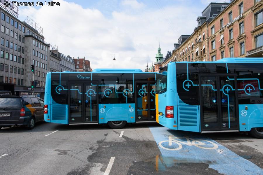 5C-busser på Rådhuspladsen