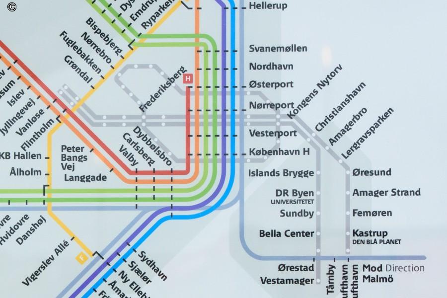 S-togslinjekort med metrocityringen